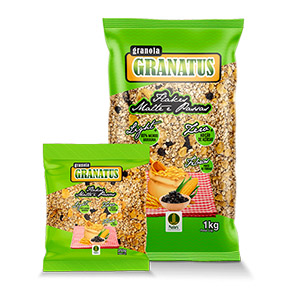 Granola com Flakes, Malte e Passas