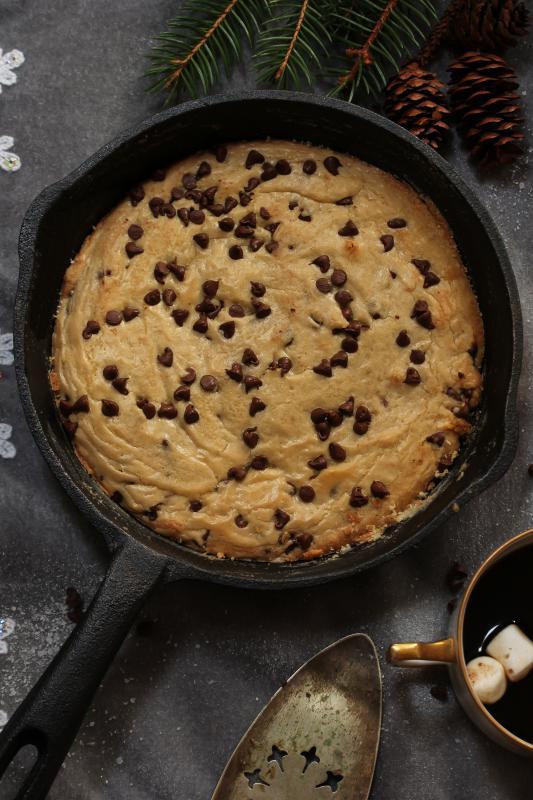 Torta cookie com recheio
