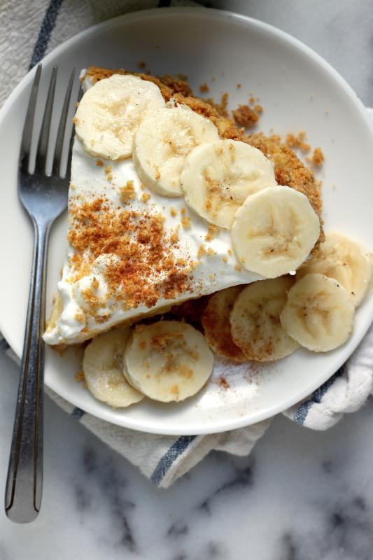 Torta de banana ou maçã com kinako